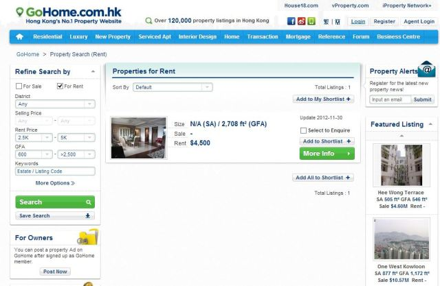 HongKong Housing Cheap Go Home